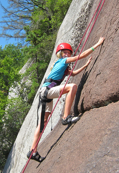 Summer Camp Girl Rock Climbing