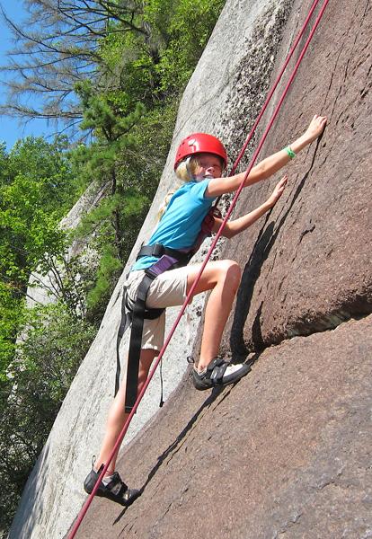 Summer Camp Girl Rock Climbing