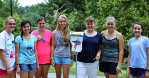 Campers win mop award for a clean cabin