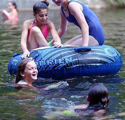 Girls Camp Swimming