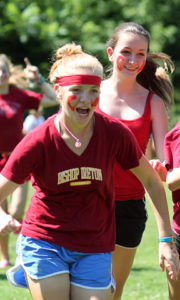 Girls on Red Team at summer camp