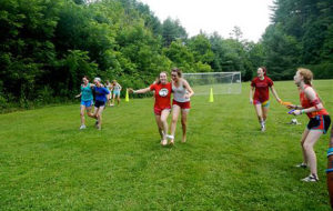 Campers race tied into 3 legs
