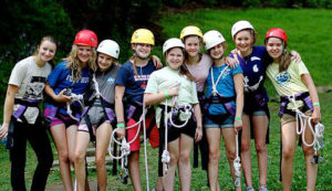 Crew of Campers Ready for the Zip Line