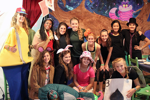 Cast of Allice in Wonderland Banquet