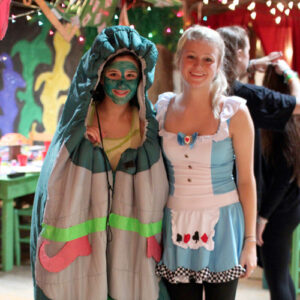 Alice and Caterpillar costumes for banquet