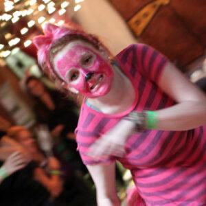 Cheshire Cat costume at Alice in Wonderland Banquet