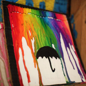 Craft of melted crayons