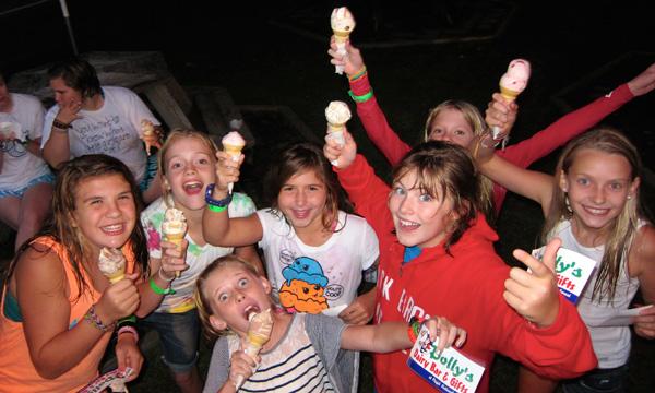 Ice Cream Eating Children