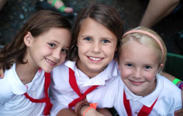 Rockbrook girl summer campers