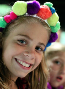 Creative headband made by camp girl