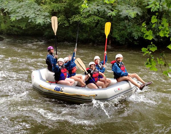 Summer Whitewater Rafting on the Nantahala River