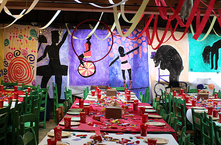 Circus decorations banquet