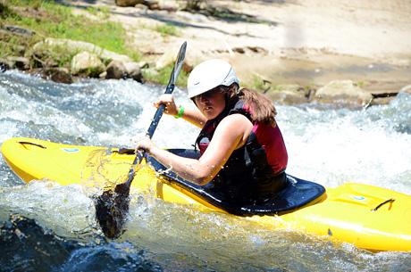 Cool Girl Kayaking close up