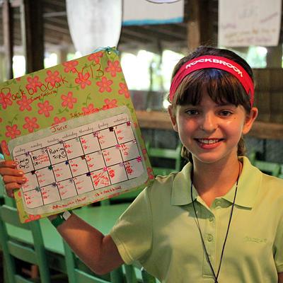 Camp Calendar Craft