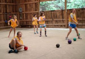 Camp Dodgeball Game for kids