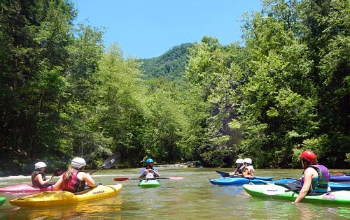 Green river NC kayaking group