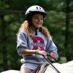 Horse show girl rider