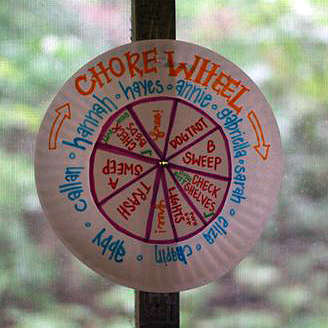 Camp Cabin Job Wheel