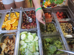 Camp salad bar selections