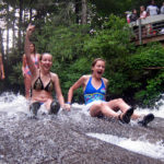happy Sliding Rock girls