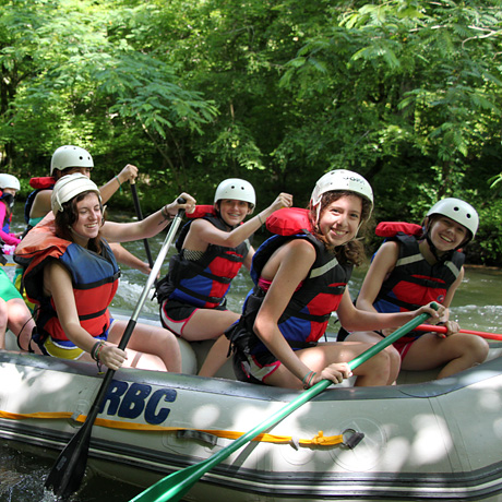 Rafting Girl Campers