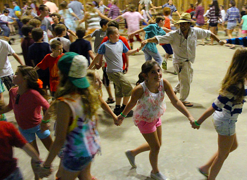 Summer Campers square dancing