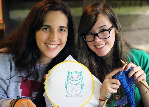Teen girls at summer camp