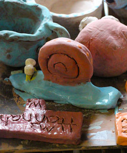 Clay snail made at camp
