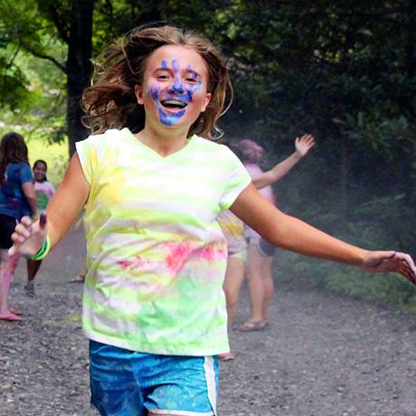 Camp color run girl