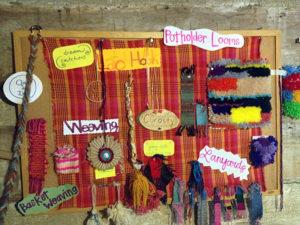 Camp fiber arts craft projects