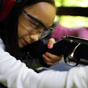 Girl sharp shooter