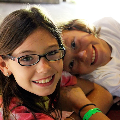 Girls happy at summer camp