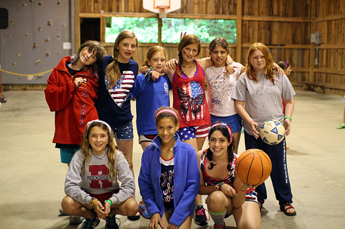 Campers at Rockbrook on 4th of July