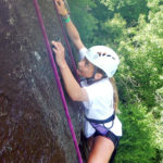 Girl Camp Rock Climber