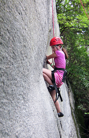 Rock Climbing camp kid
