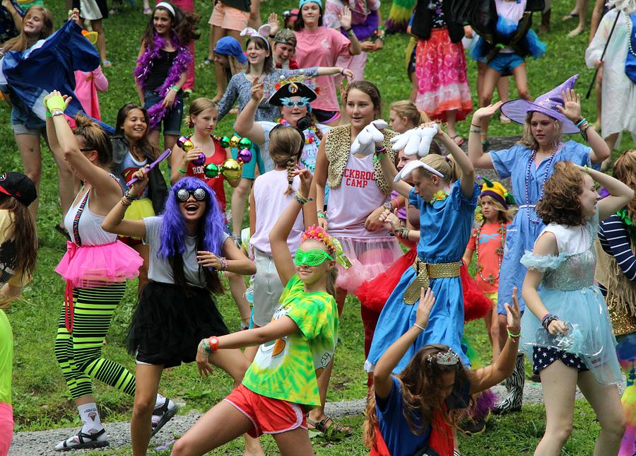 Girls dressed for the harlem shake video
