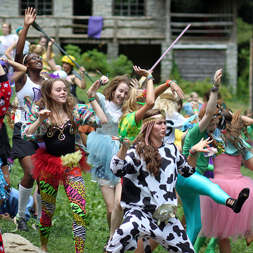 Camp Girls doing the Harlem Shake