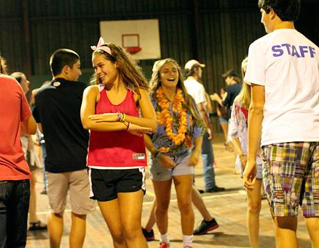 Camp square dancinf kids