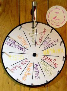 Camp wheel spin game