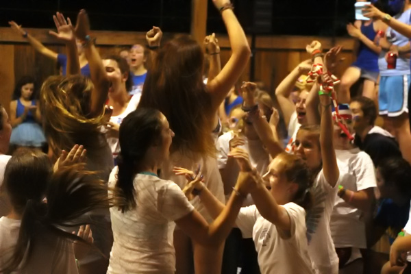 White team wins and celebrates