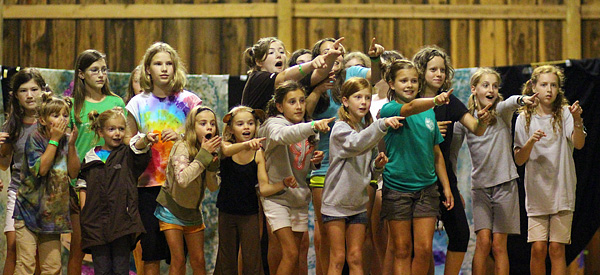 Scene from camp musical