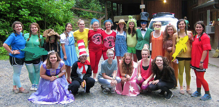 Camp Banquet costume members