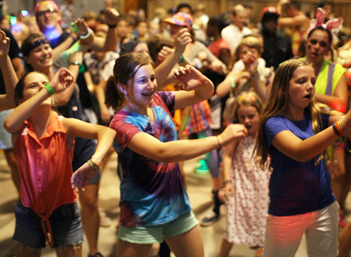Kids at summer camp dance