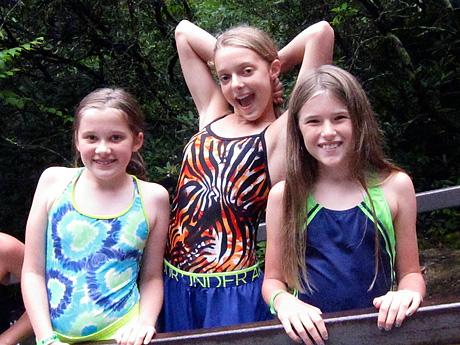 Girls at Sliding Rock