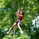 Zip line camp girl