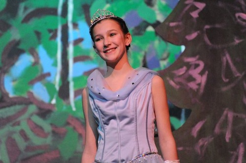 "Eva in her role as Cinderella for her school's production of ""Into the Woods"". She was awesome!"