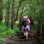 Girls Hiking at summer camp