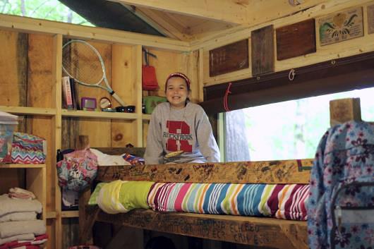 Camp bunk all set up