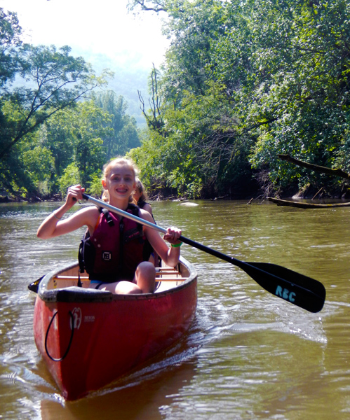 Kids Summer Camp Canoeing Trip