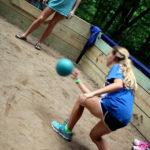 Girls playing gaga dodgeball